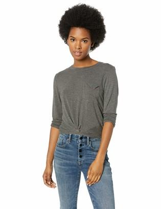 RVCA Junior's Tangled 3/4 Sleeve Shirt