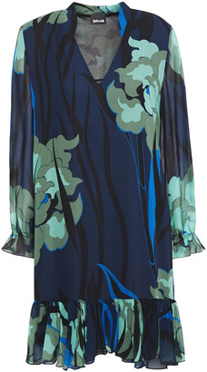 Just Cavalli Printed Georgette Mini Dress