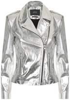 SET Metallic Leather Jacket