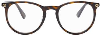 Gucci Tortoiseshell Panto Glasses