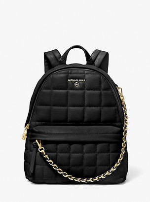 MICHAEL Michael Kors MK Slater Medium Quilted Leather Backpack - Black - Michael Kors