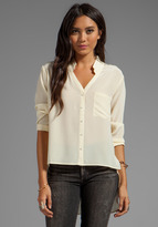 Silk Hi Low Blouse