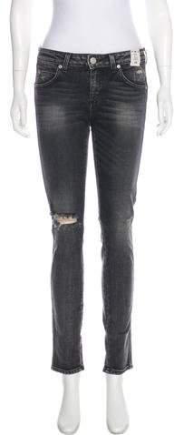 Amo Stix Mid-Rise Skinny Jeans w/ Tags