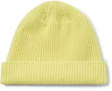 Our Legacy Ribbed Merino Wool, Angora And Cashmere-blend Beanie - Yellow