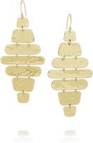 Ippolita Cascade hammered 18-karat gold earrings