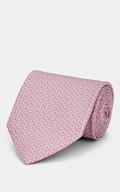Marks & Spencer Silk Red Geometric Mens Tie Herren-accessoires