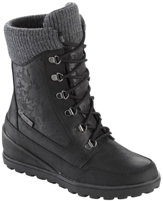 L.L. Bean Women's Wedge Snow Boot, Leather/Mesh