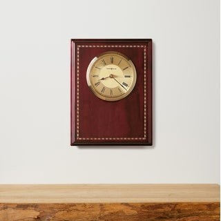 Howard Miller Honor Time II Elegant, Regal, Transitional Wall Clock on Commemorative Plaque, Reloj De Pared