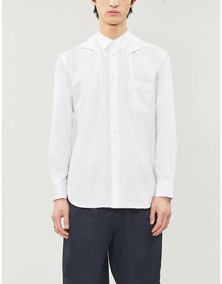 Comme des Garçons Shirt Drawstring hooded regular-fit cotton shirt