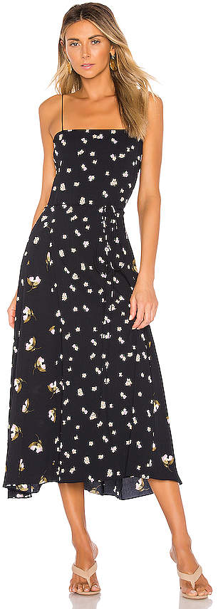 Vince Mixed Ditsy Hibiscus Dress