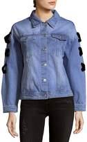 ENGLISH FACTORY Women's Denim Cotton Jacket