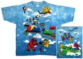 Liquid Blue Men's Grateful Dead Parachuting Bear Short Sleeve T-Shirt