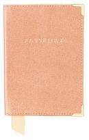 Aspinal of London Passport Cover Deer Brown