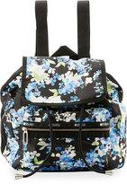 Le Sport Sac Mini Voyager Flap-Top Backpack, Black Pattern