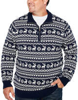 THE FOUNDRY SUPPLY CO. The Foundry Big & Tall Supply Co. Mock Neck Long Sleeve Pullover Sweater - Big and Tall