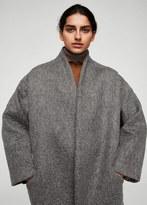 MANGO Texturised unstructured coat