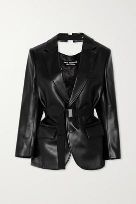 Junya Watanabe Cutout Faux Leather Blazer - Black