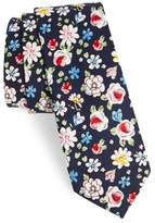 Nordstrom Frenso Floral Cotton Skinny Tie