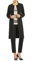 Calvin Klein Luxe Stretch Suiting Zip-Front Topper Jacket