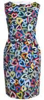 Love Moschino Printed Cotton-Blend Twill Dress