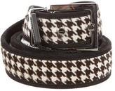 Dolce & Gabbana Ponyhair Houndstooth Belt