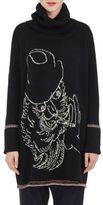 Yohji Yamamoto Women's Wool-Cotton Turtleneck Sweaterdress-BLACK