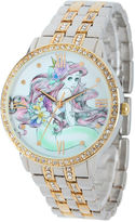 Disney The Little Mermaid Womens Two Tone Bracelet Watch-W001828