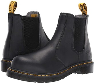 Dr. Martens Work Arbor Steel Toe Chelsea Boot (Black) Women's Pull-on Boots