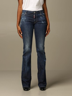 DSQUARED2 Jeans Flare Fit Jeans With Breaks