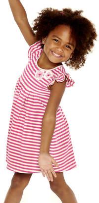 Pippa & Julie Girls' Casual Dresses FUSCHIA/WHITE - Fuchsia & White Stripe Dress - Infant