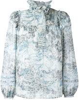 Marc Jacobs ruffle collar blouse - women - Silk/Cotton - 2