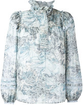 Marc Jacobs ruffle collar blouse - women - Silk/Cotton - 4