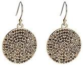 Lucky Brand Goldtone Pave Crystal Disc Earrings