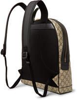 gucci angry cat leather trimmed appliqu d monogrammed coated canvas backpack herren. Black Bedroom Furniture Sets. Home Design Ideas