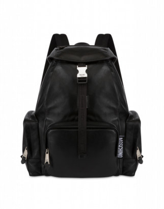 Moschino Calfskin Backpack Macro Label
