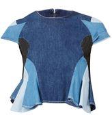 Anrealage patchwork denim shirt