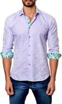 Jared Lang Embossed Long Sleeve Trim Fit Shirt
