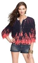 Juicy Couture Chiffon Fringe Jacket