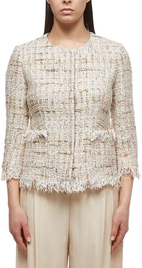 Tagliatore Tweed Embroidered Blazer