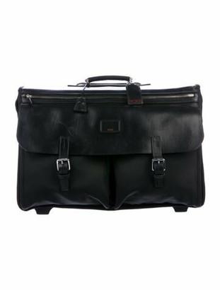 Tumi Wheeled Leather-Trimmed Nylon Garment Bag Black