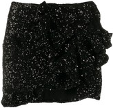 Amen sequin embroidered asymmetric skirt
