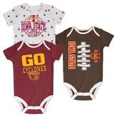 NCAA Iowa State Cyclones Newborn 3-Pack Bodysuit Set