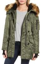 S13/Nyc Iceberg Water Repellent Hooded Parka with Faux Fur Trim
