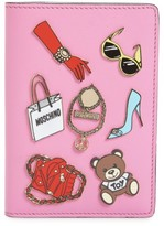 Moschino Tool Belt Charms Passport Cover - Purple