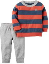 Carter's Baby Boy Striped Sweater & Pants Set