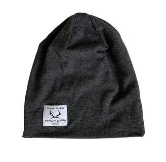 Little Buck Slouchy Homegrown Beanie Bamboo- Charcoal - Extra Small 0 to 3 Months