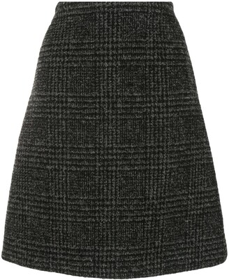 Proenza Schouler plaid A-line skirt