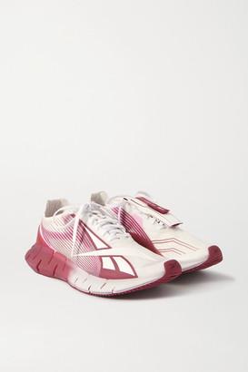 Reebok + Cottweiler Zig 3d Storm Rubber And Mesh Sneakers - Pink