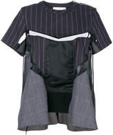 Sacai deconstructed pinstripe top