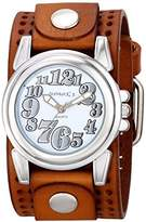 Nemesis Women's 069BPLBS Trendy Oversized Series Analog Display Japanese Quartz Brown Watch